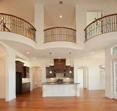 interior balconies | Interior Balconies Overlooking Family Room