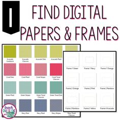 Finding amazing digital papers is the first step in designing your perfect banners!