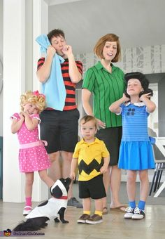 Hillary: We love watching the Peanut Halloween Special on TV every year and thought it would be fun to bring the classic characters to life. It was easily achieved by finding...