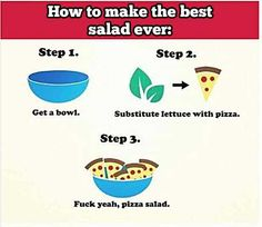 How to prepare a great salad…