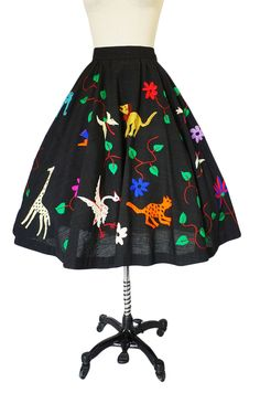1950s Embroidered Mexican Castillo Skirt - I'm pretty sure I would dress up like Mrs. Frizzle!