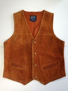 Men's Real Suede Leather Vest Braided Tan Muskoka Lakes - Large #MuskokaLakes #Vest #Casual Leather Vest, Suede Leather, Black Suede, Cool Buttons, Puma Mens, Men's Shirts, Full Zip Hoodie, Lakes, Braids