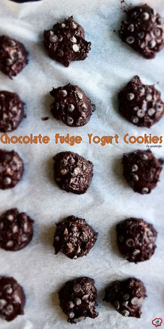 These Chocolate Fudge Yogurt Cookies have no butter or oil and are super moist and loaded with chocolate flavor.
