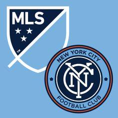 New MLS logo with New York City Football Club logo