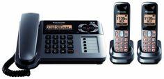 Panasonic KX-TG1062M DECT 6.0 Corded/Cordless Phone with Answering Machine, Metallic Gray, 2 Handsets Panasonic http://www.amazon.com/dp/B001P80ESO/ref=cm_sw_r_pi_dp_3JN8tb04ERC20