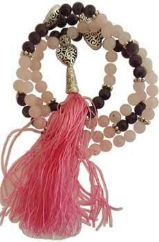 Rose Quartz & Amethyst Heart Elastic Mala-https://goo.gl/zT3OTl  #awesomesauce