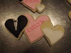 Wedding Cookie #Log_House_Cookies, #royal_icing, #Wedding