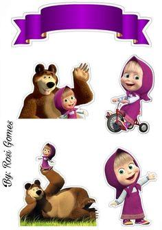 Marcha e urso Bear Birthday, 2nd Birthday, Masha Et Mishka, Marsha And The Bear, Teddy Bear Cartoon, Bear Party, Paper Cake, Holiday Themes, Lol Dolls