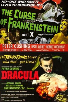 The Curse Of Frankenstein (1957) / Dracula AKA Horror Of Dracula (1958) British Quad Posters