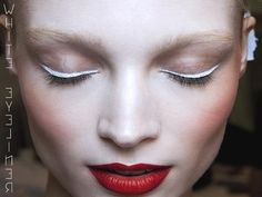 #kazar #inspiration #makeup #modern #white #eyeliner