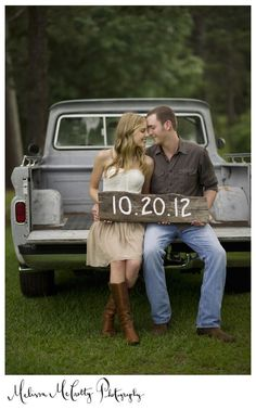 Engagement. This would be cute on dad's tractor.