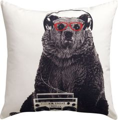 """I must have this!!  Wish the back was green or blue instead of red though....  bruce 18"""" pillow  