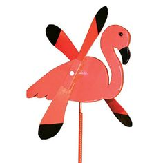 Flamingo Whirlybird / Whirligig Wind Spinner