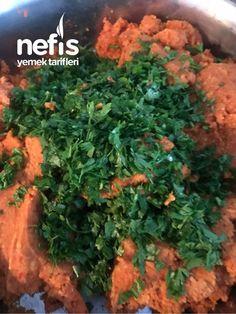 Antep Usulü Mercimekli Köfte - Nefis Yemek Tarifleri - #6356418 Pasta, Parsley, Herbs, Food, Bulgur, Meal, Essen, Herb, Hoods