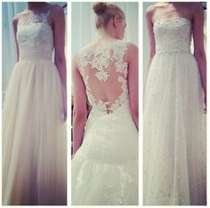 Light lace and tulle from our Spring 2015 collection.   (Photo via Hitched  Hitched Maids)
