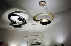 Pirce Suspension Lamps by Artemide nouvelles finitions