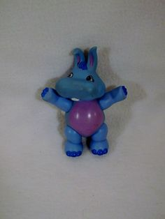 "1985 Disney Wuzzles Hippopotamus Hoppopotamus hippo 4.25"" figurine toy #Disney"