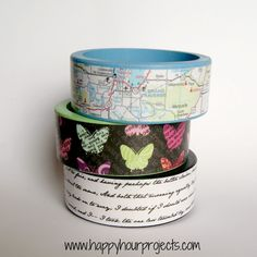 DIY Mod Podge Wood Bracelets 06/04/2012 | 31 Comments