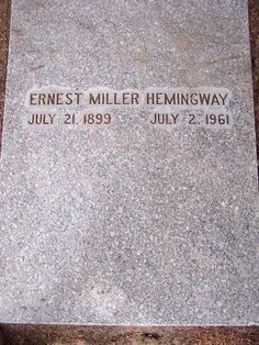 Ernest Hemingway, Ketchum Cemetery, Ketchum, ID