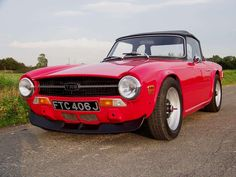 Nicely lowered and de-bumpered TR6