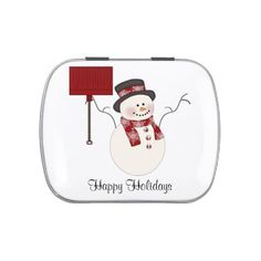 Red Snowman Christmas Candy Tin http://www.zazzle.com/red_snowman_christmas_candy_tin-256964452381798302?rf=238631258595245556