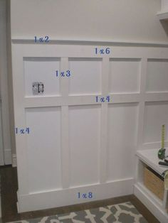6 Enterprising Simple Ideas: Gray Wainscoting Board And Batten wainscoting trim interior doors.Gray Wainscoting Board And Batten wainscoting ideas bathroom. Home Renovation, Home Remodeling, Bathroom Remodeling, Casa Clean, Moldings And Trim, Moulding, Molding Ideas, Crown Moldings, Diy Casa