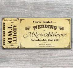 Beautiful and original wedding invitations