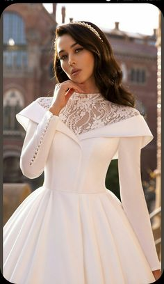 Layered Wedding Dresses, Muslim Wedding Dresses, White Wedding Gowns, Wedding Dress Sleeves, Bridal Dresses, Stunning Wedding Dresses, Classic Wedding Dress, Tulle Ball Gown, Tulle Dress