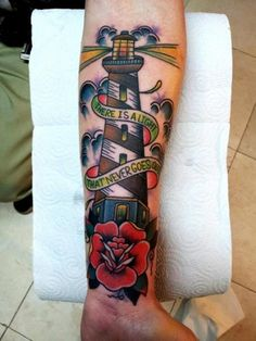 35 Lighthouse Tattoos and Meanings 7