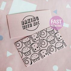 Pink & Black Raised #rasied #card #businesscard #fastprinting #FP