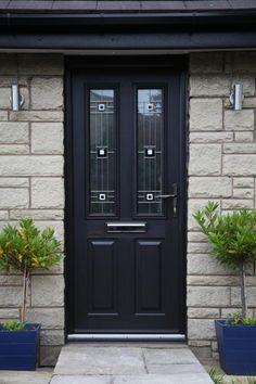 Black Ludlow composite door with CFT2.2 glass.