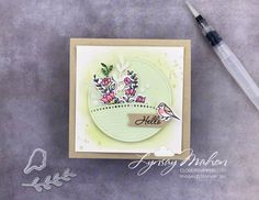 Handmade Tags, Stamping Up Cards, Animal Cards, Cloud 9, Crafty Projects, Embossing Folder, My Flower, Stampin Up, Card Stock