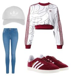 Malu Trevejo Inspired Outfit by fashionpanda15 on Polyvore featuring polyvore adidas Originals George adidas Topshop fashion style clothing