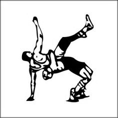 wrestling silhouette clip art bing images decorated cookies rh pinterest com olympic wrestling clip art Wrestling Logo