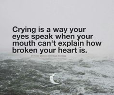 It's okay to cry...Showing your true feelings helps you as well as your family. Let it out!