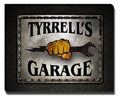 Tyrrell's Garage Mechanic Gallery Wrapped Canvas Print
