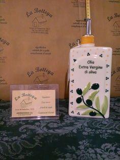 """Dettagli su  Bottiglia olio cl.50 Wald in Kergrès porcellanato"""" Impronte Verde"""""""