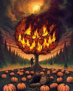 now-here: Jeffrey Smith / Ascending Storm halloween fondos Halloween Town, Halloween Kunst, Photo Halloween, Halloween Artwork, Halloween Painting, Halloween Drawings, Halloween Images, Halloween Wallpaper, Halloween Horror