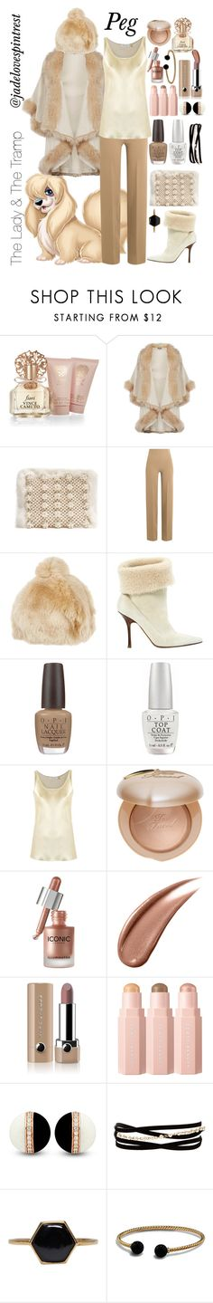 """""""Peg Style"""" by jadelovespintrest ❤ liked on Polyvore featuring Vince Camuto, Coast, Shrimps, Emilia Wickstead, Albertus Swanepoel, Jimmy Choo, OPI, Gloria Coelho, Too Faced Cosmetics and Marc Jacobs"""