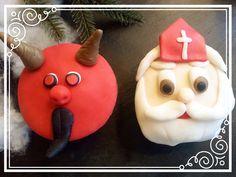 Nikolaus Cupcake und Krampus Cupcake Cupcakes, Seasons, Christmas Ornaments, Baking, Holiday Decor, Fun, Xmas, Xmas Ornaments, Bread Making