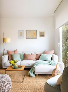 Ideas For Living Room Scandinavian White Couch