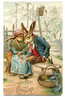 images of a vintage easter bunny - Google Search