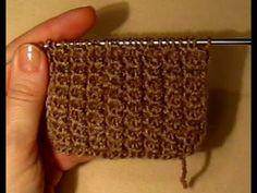 Вязание для начинающих.Шотландская резинка!KNITTING...