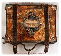 Tim Holtz inspired altered suitcase