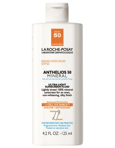 La Roche-Posay Anthelios Tinted Mineral Ultra-Light Fluid Broad Spectrum SPF Face Sunscreen with Zinc Oxide and Titanium Dioxide, Oil-Free, Fl. Sunscreen For Sensitive Skin, Sunscreen Spf 50, Dry Skin On Face, Skin Care, Diy, Beauty Products, Skin Products, Laroche Posay, Beauty Ideas