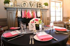 Black, White, Pink & Gold Bridal/Wedding Shower Party Ideas | Photo 9 of 64 | Catch My Party