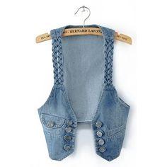 New Hot Casual Women Denim Vest Jacket Sleeveless Jean Coat Denim Vests, Jeans Denim, Old Jeans, Vest Coat, Vest Jacket, Jean Vest, Modelos Fashion, Diy Vetement, Denim Outfits