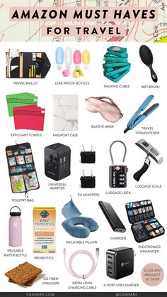travel packing carry on ; travel packing tips ; travel packing list for a week Travel Packing Checklist, Travel Bag Essentials, Road Trip Essentials, Road Trip Hacks, Packing Hacks, Packing Tips For Vacation, Travel Hacks, Airplane Essentials, Travel Gadgets
