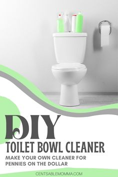 Clean your toilet bowl naturally with only 2 ingredients you likely already have around the house. #cleaninghacks #vinegar #bakingsoda #cleaning Toilet Bowl, 2 Ingredients, Spring Cleaning, Cleaning Hacks, Vinegar, Projects, How To Make, Diy, House