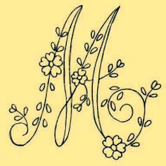 Irresistible Embroidery Patterns, Designs and Ideas. Awe Inspiring Irresistible Embroidery Patterns, Designs and Ideas. Embroidery Alphabet, Embroidery Monogram, Hand Embroidery Patterns, Ribbon Embroidery, Embroidery Art, Embroidery Stitches, Machine Embroidery, Embroidery Designs, Hand Lettering